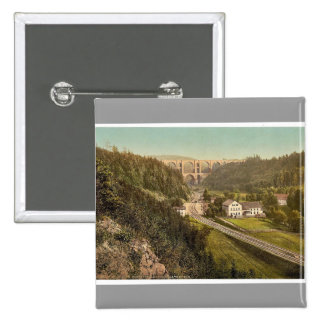 Elster Valley Bridge and the Barth Mill, Plauen, S Pinback Button