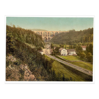 Elster Valley Bridge and the Barth Mill, Plauen, S Postcard