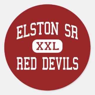 Elston Sr - Red Devils - High - Michigan City Classic Round Sticker