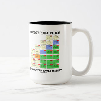Elucidate Your Lineage Explore Your Family History Two-Tone Coffee Mug