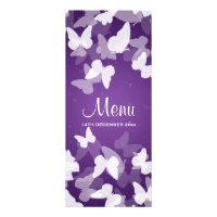 Elusive Butterflies Purple Wedding Menu Invite (<em>$2.35</em>)