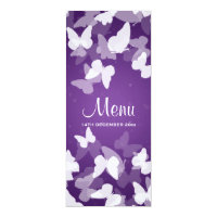 Elusive Butterflies Purple Wedding Menu Invite (<em>$2.57</em>)
