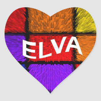 ELVA HEART STICKER