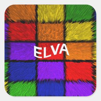 ELVA SQUARE STICKER
