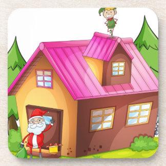 elve and santa claus coaster