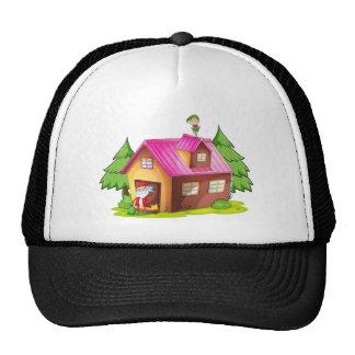 elve and santa claus trucker hat