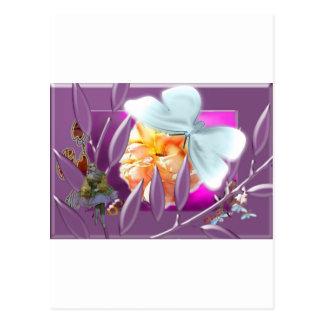 Elve with ladybirds postcard
