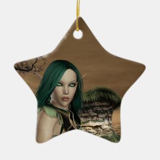 Elven Archer Christmas Ornament