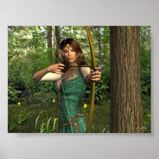 'Elven Archer' Print