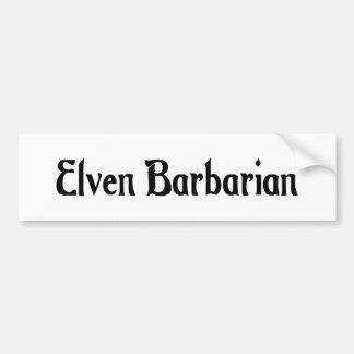 Elven Barbarian Sticker Bumper Stickers