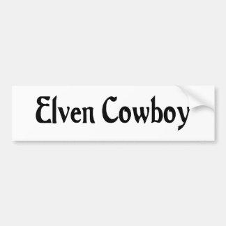 Elven Cowboy Bumper Sticker Car Bumper Sticker