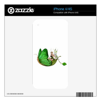 Elven Fairy on a Leaf Boat Skins For The iPhone 4S