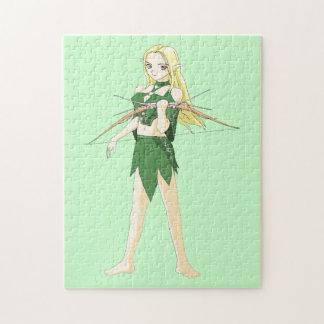 Elven femenino Archer Puzzle Con Fotos