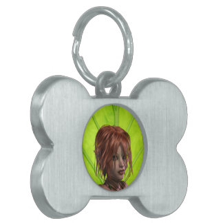 Elven Girl Pet Tag