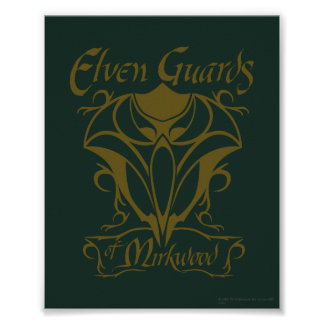 Elven Guards of Mirkwood Name Poster