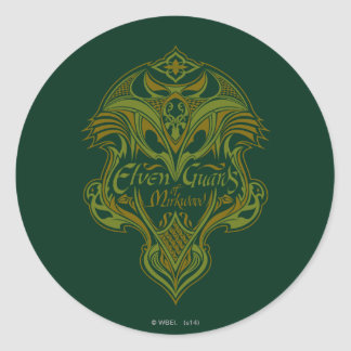 Elven Guards of Mirkwood Shield Icon Classic Round Sticker