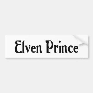 Elven Prince Bumper Sticker