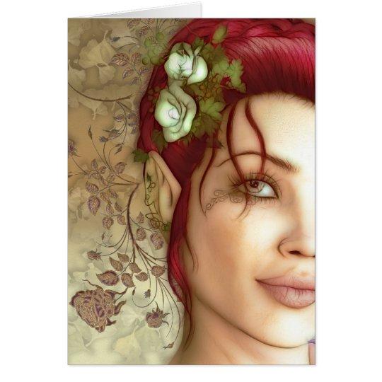 Elven Princess Fantasy Art Card