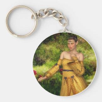 Elven Queen Keyring Basic Round Button Keychain
