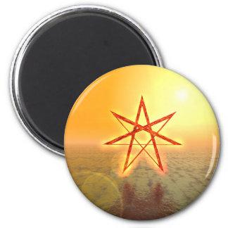 Elven Star 01 2 Inch Round Magnet