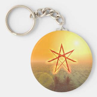 Elven Star 01 Basic Round Button Keychain