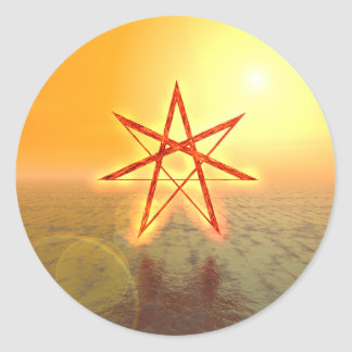 Elven Star 01 Classic Round Sticker