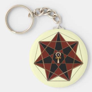 Elven Star Basic Round Button Keychain