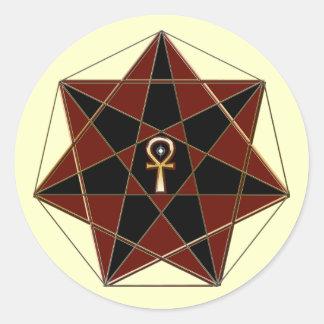 Elven Star Classic Round Sticker