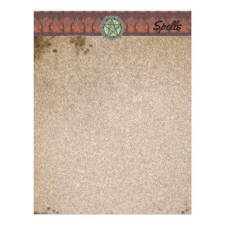 Elvenwood Brown Leaf Spell Page