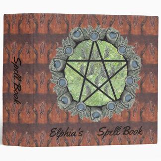 Elvenwood Pentacle Brown Leaf BG. BOS Lg Binder