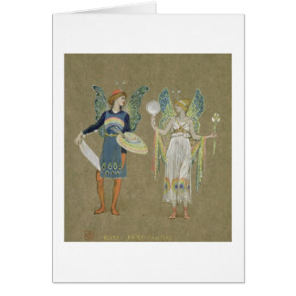 Elves and Fairy Painters, from 'The Snowman' 1899 Card