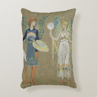 Elves and Fairy Painters, from 'The Snowman' 1899 Accent Pillow