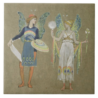 Elves and Fairy Painters, from 'The Snowman' 1899 Tile