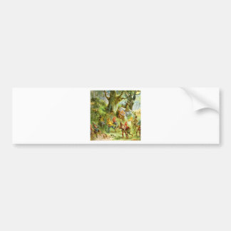 Elves and Gnomes in the Deep Dark Magical Forest Bumper Sticker
