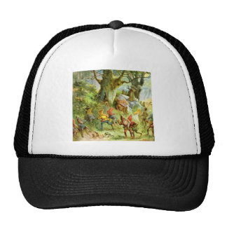 Elves and Gnomes in the Deep Dark Magical Forest Mesh Hat