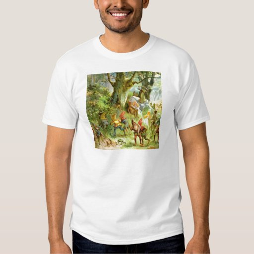 Elves and Gnomes in the Deep Dark Magical Forest Tee Shirt