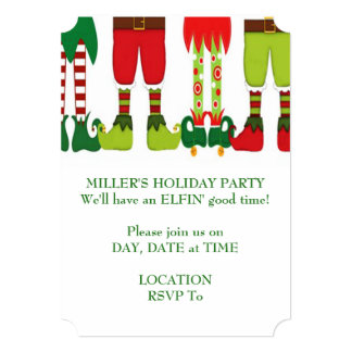 Elves And More Christmas Party Invitation