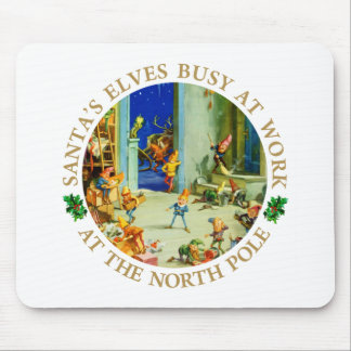 Elves Are Busy at Santa's North Pole Workshop Mouse Pad