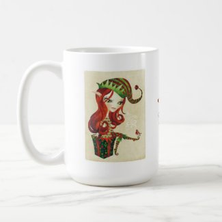 Elves Christmas Mug mug