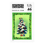 ELVES, CHRISTMAS TREE & HOLLY by SHARON SHARPE Postage