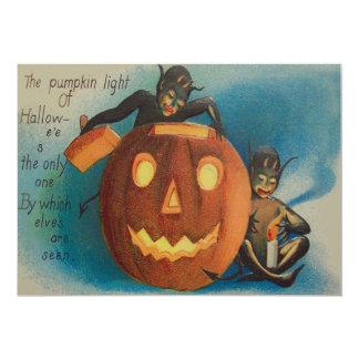 Elves Goblins Candle Jack O' Lantern Pumpkin Card