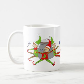 Elves Guarding Cookie Jar Coffee Mug