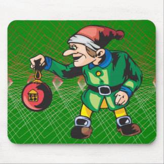 Elves Love Christmas Ornaments Mouse Pad