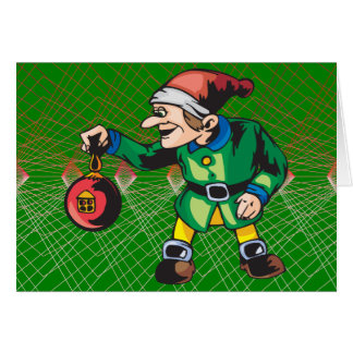 Elves Love Christmas Ornaments Stationery Note Card