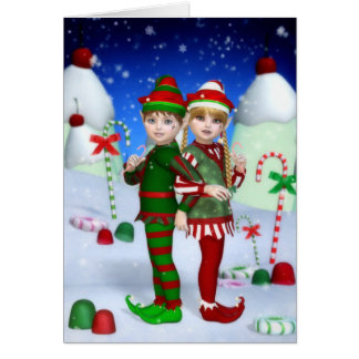 Elves of Candy Mountain Greeting/Note Card
