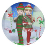 Elves of Candy Mountain Plate