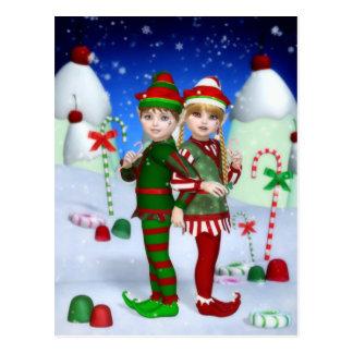 Elves of Candy Mountain Postcard