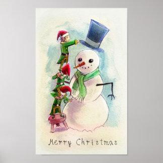 elves_snowman poster