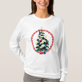 ELVES, TREE & CANDY WREATH by SHARON SHARPE T-Shirt