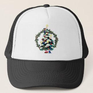ELVES, TREE & FIR WREATH by SHARON SHARPE Trucker Hat
